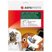 Hartie transfer termic pentru tricouri albe (deschise la culoare) Agfa format A4 greutate 140g/mp pachet de 10 coli