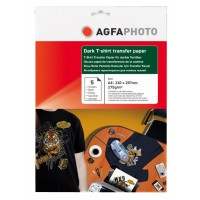 Hartie transfer termic pentru tricouri negre (inchise la culoare) Agfa format A4 greutate 175g/mp pachet de 5 coli