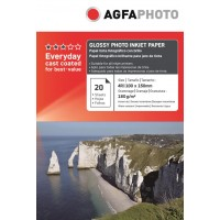 Hartie 10x15 (4R) lucioasa Agfa Photo 180g/mp la pachet de 100 coli