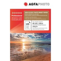 Hartie 10x15 (4R) resin coated (RC) Agfa Photo single side 260g/mp la pachet de 100 coli