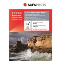 Hartie foto A3 Agfa lucioasa 240g/mp pachet de 20 coli
