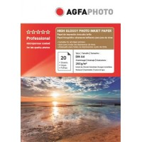 Hartie foto A4 Agfa resin coated (RC) single side 260g/mp la pachet de 20 coli