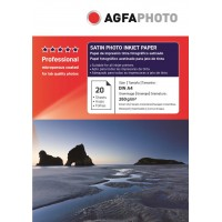 Hartie foto A4 Agfa resin coated (RC) satinata single side 260g/mp la pachet de 20 coli