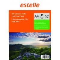 Hartie foto autoadeziva A4 mata - etichete autocolante mate 128g/mp pachet de 50 coli