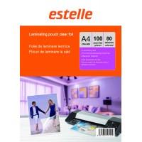 Folie pentru laminat A4 (216 x 303 mm) transparenta lucioasa (clear glossy) - pachet 100 plicuri / buzunare pentru laminare la cald