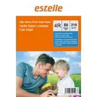 Hartie foto 4R (10x15) glossy single side 210g/mp la pachet de 50 coli
