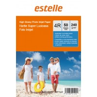 Hartie foto 4R (10x15) glossy single side 240g/mp la pachet de 50 coli