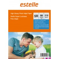 Hartie foto 5R (13x18) glossy single side 210g/mp la pachet de 50 coli