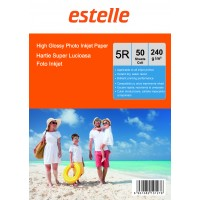 Hartie foto 5R (13x18) glossy single side 240g/mp la pachet de 50 coli