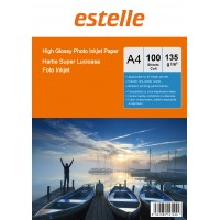Hartie foto A4 glossy single side 135g/mp la pachet de 100 coli
