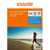 Hartie foto A4 glossy single side 150g/mp la pachet de 20 coli