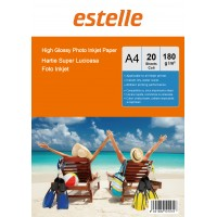 Hartie foto A4 glossy single side 180g/mp la pachet de 20 coli