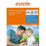 Hartie foto A4 glossy single side 210g/mp la pachet de 20 coli