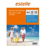 Hartie foto A4 glossy single side 240g/mp la pachet de 20 coli