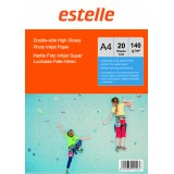 Hartie foto A4 glossy double side 140g/mp la pachet de 20 coli