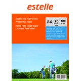 Hartie foto A4 glossy double side 180g/mp la pachet de 20 coli