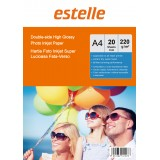 Hartie foto A4 glossy double side 220g/mp la pachet de 20 coli