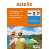 Hartie foto A4 glossy double side 260g/mp la pachet de 20 coli