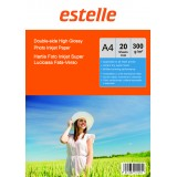 Hartie foto A4 glossy double side 300g/mp la pachet de 20 coli