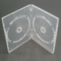 Carcasa dubla DVD transparenta (clear) 14mm