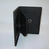 Carcasa DVD neagra pentru 3 discuri, grosime 14mm