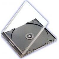 Carcasa CD normala jewel case cu tava neagra si grosime de 10.4mm