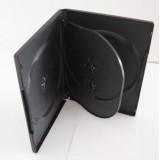 Carcasa DVD neagra pentru 4 discuri, grosime 14mm