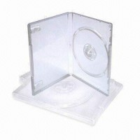 Carcasa DVD transparenta 14mm single