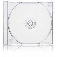 Carcasa CD normala jewel case cu tava transparenta si grosime de 10.4mm
