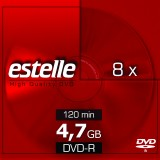 DVD-R 4.7GB estelle viteza 8x cu carcasa slim CD