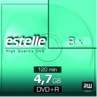 DVD+R 4.7GB estelle viteza 8x cu carcasa slim CD