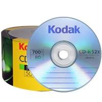 CD R80 Kodak cu logo viteza 52x - pachet de 50 discuri