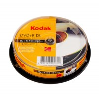 DVD+R DL Kodak inkjet printabil 8.5GB (dual layer) suprafata semi mata viteza 8x - pachet de 10 discuri