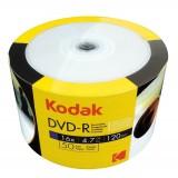 DVD-R Kodak inkjet printabil 4.7GB suprafata semi mata viteza 16x - pachet de 50 discuri