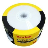DVD-R printabil lucios (glossy) 4.7GB  viteza 16x Kodak- suprafata lucioasa - pachet de 50 discuri