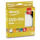 DVD+RW 4.7GB Memorex viteza maxima 4x ambalate in cakebox