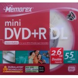 mini DVD+R DL (dual layer) 2.6GB Memorex viteza maxima 2.4x